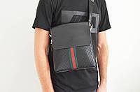 Мужская сумка Gucci(Гуччи) через плечо копия, дроп и опт, брендовая, фото 1