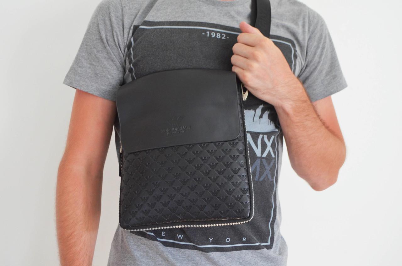 Чоловіча сумка Armani(армані) через плече, барсетка, планшетка, копія, дроп та отп, хіт року