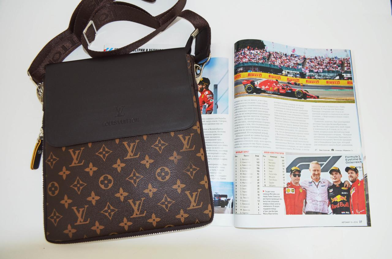 Чоловіча сумка Louis Vuitton через плече, дроп і опт, брендова, планшетка, барсетка