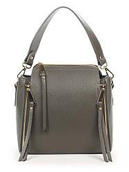 Кожаная сумка Italian Bags Клатч Italian Bags 1808_gray Кожаный Серый
