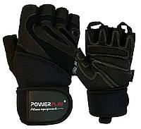 Рукавички для фітнесу PowerPlay 1063 E Чорні S