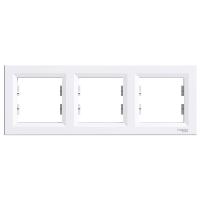 Рамка трехпостовая горизонтальная  ASFORA Schneider Electric Белый