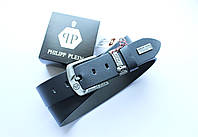 Мужской ремень Philipp Plein для джинсов +коробка к ремню в подарок! Синий, фото 1