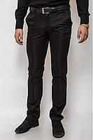 Стильные классические мужские брюки с полоской коричневые, синие
