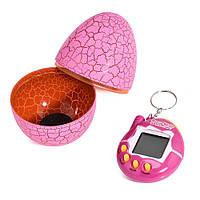 Игрушка электронный питомец Тамагочи в Яйце Динозавра KS Eggshell Game Pink - 150676
