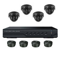 "Комплект видеонаблюдения на 4 камеры +HDD 500Gb в подарок, 700 TVL ""Установи сам"" (DVR KIT 4V), фото 1"