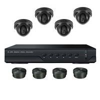"""Комплект видеонаблюдения на 4 камеры +HDD 500Gb в подарок, 700 TVL """"Установи сам"""" (DVR KIT 4V)"""