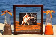 Рамка для песочной церемонии с фото!