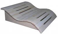 Sauna Pro Подголовник анатомический Волна липа (С-125)