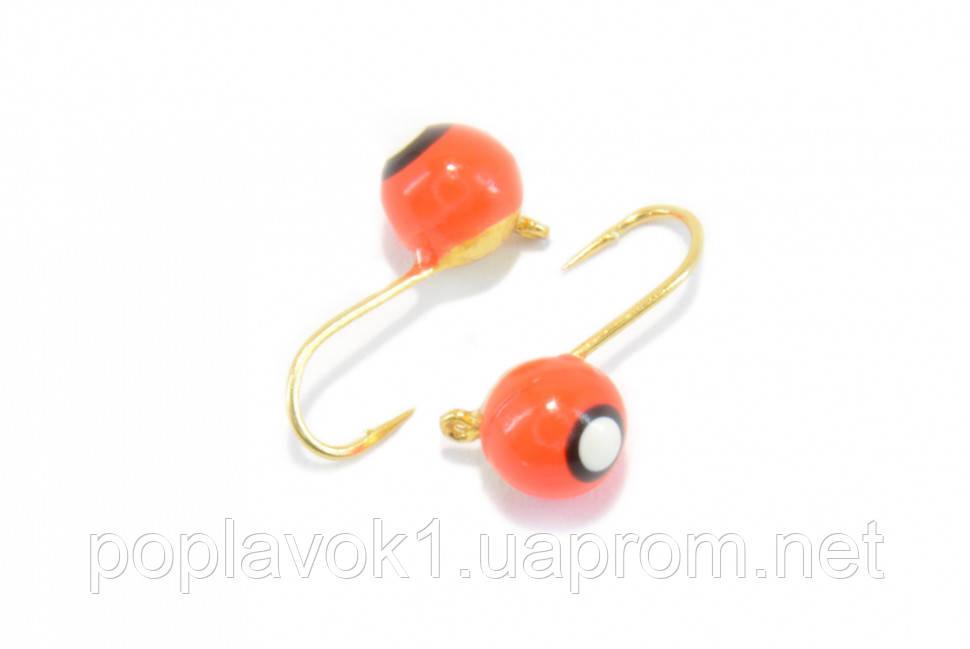 Мормышка вольфрам шар (красный с точкой) 5мм