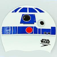 Шапочка для плавания SPEEDO SLOGAN PRINT Star Wars (белый-синий)