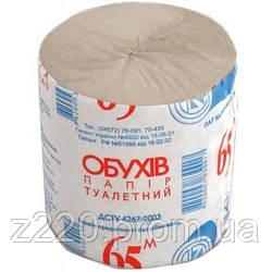 Туалетная бумага Обухів 65 м 1 шт (тп.об65с)