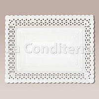 Белые ажурные тарелки Salaet ARIES, прямоугольные - 18x25 см, фото 1
