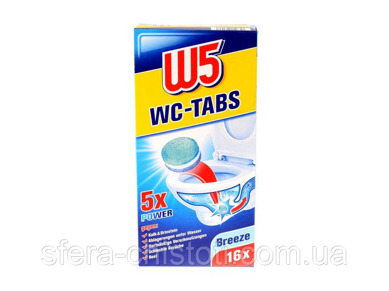 W5 чистящие таблетки для унитаза 16 шт