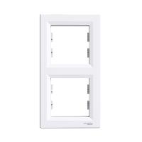 Рамка двухпостовая, верикальная  ASFORA Schneider Electric Белый