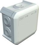 Розп. коробка з каб. мембр., 90x90x52 IP 55 світлосіра, ПП, T 40