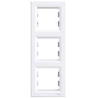 Рамка трехпостовая, верикальная  ASFORA Schneider Electric Белый