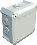 Розп. коробка з каб. мембр., 114x114x57 IP 66 світлосіра,ПП, T 60