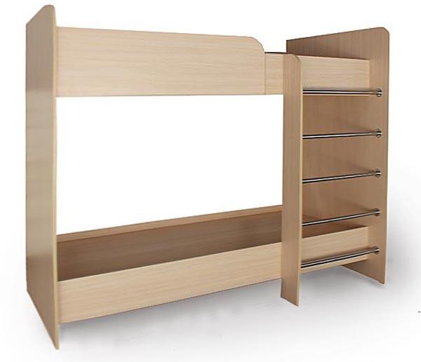 Кровать - Двухъярусная с матрасами 80Х190