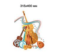 Музыкальные инструменты. Настенная декорация для детского сада.