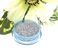 Глиттер ( блестки) голографический Серебро 10 грамм