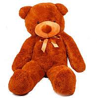 Мягкая игрушка медведь Тедди 140 см Коричневый (196-19112825)