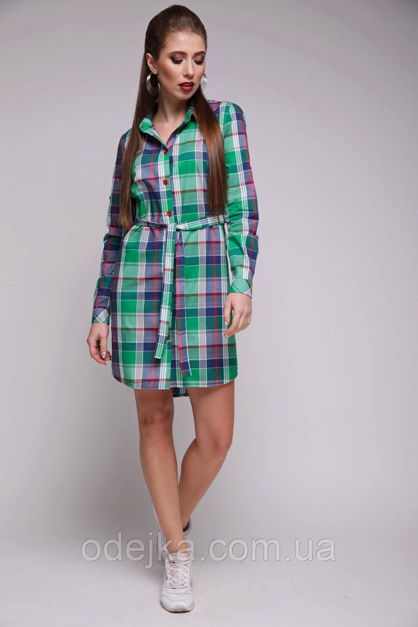 Платье рубашка Grently клетка
