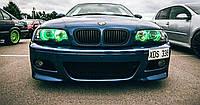 CCFL цветные ангельские глазки на BMW