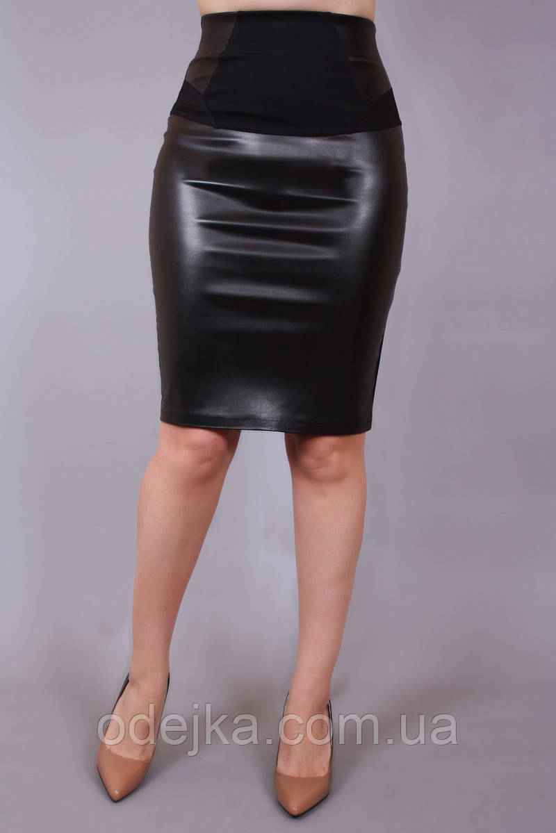 Юбка Трансформер кожа, юбка карандаш, юбка в офис, юбка экокожа, спiдниця