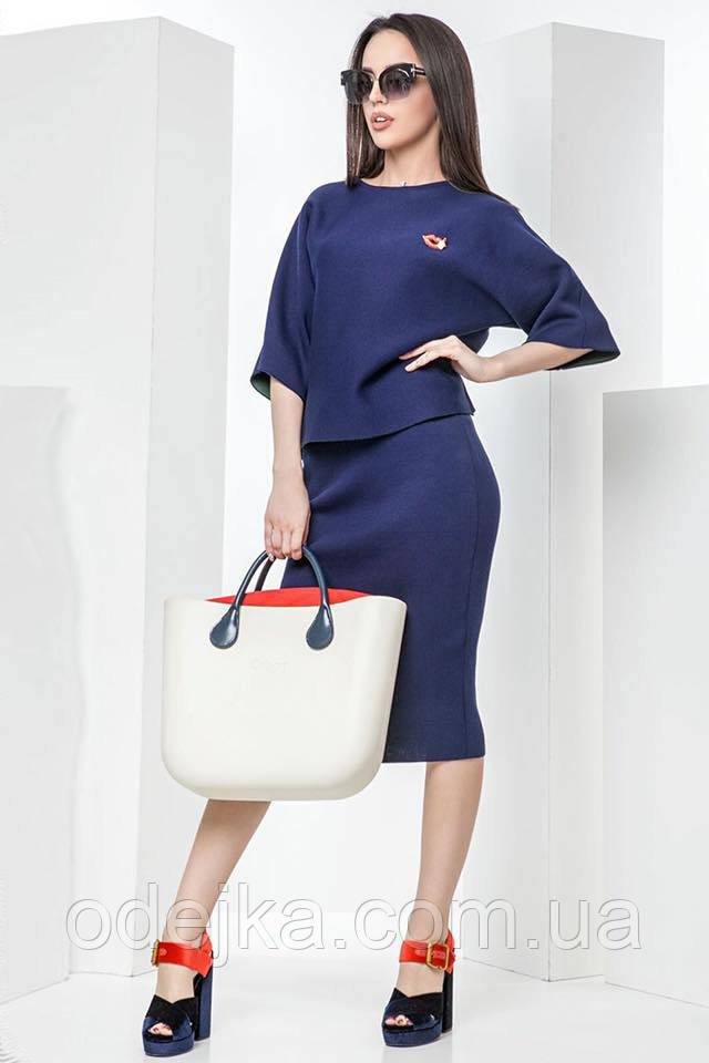 Костюм женский с юбкой Липс, (3 цвета), юбочный костюм,  жіночий костюм зі спідницею