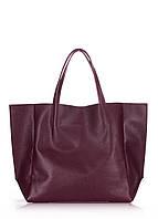 Кожаная сумка poolparty-soho-bordo, фото 1