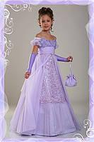Нарядное выпускное платье Натали 1715 сиреневое