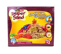 Кинетический песок Play-Toys Super Sand с песочницей 8188 (54002)
