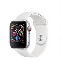 Smart Watch IWO 8 умные смарт часы - Серебряный корпус, белый ремешок
