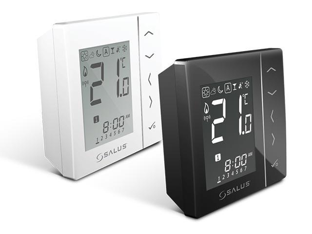 Salus VS20ВRF - терморегулятор бездротової, чорний