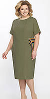Платье Matini-31290 белорусский трикотаж, хаки, 58