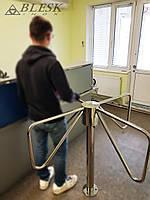 Турникет вертушка механический из нержавейки для проходной КПП