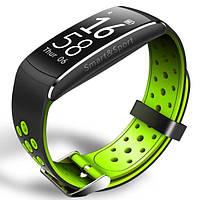 Фитнес браслет Smart Band SiMax Q8 Tonometr Черный-зеленый (SBQ8GR)