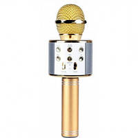 Беспроводной караоке-микрофон-колонка MusicBox W8 Gold (MB578W8ORG)