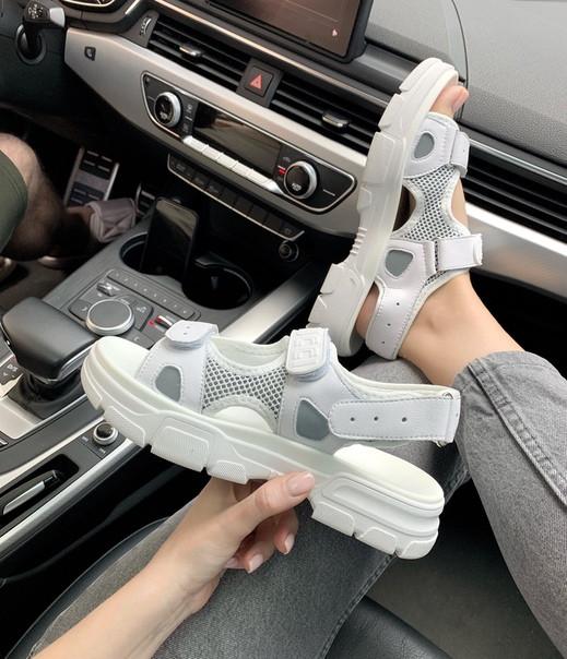 """Женские сандали Gucci Sandals """"White""""  ( в стиле Гуччи )"""