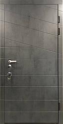 """Входная уличная дверь """"Портала"""" серия Трио RAL ― модель Диагональ 2 (Три контура)"""