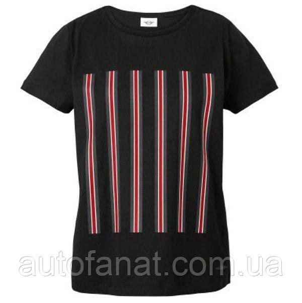 Оригинальная женская футболка MINI JCW Stripes T-Shirt Women's, Black (80142454496)