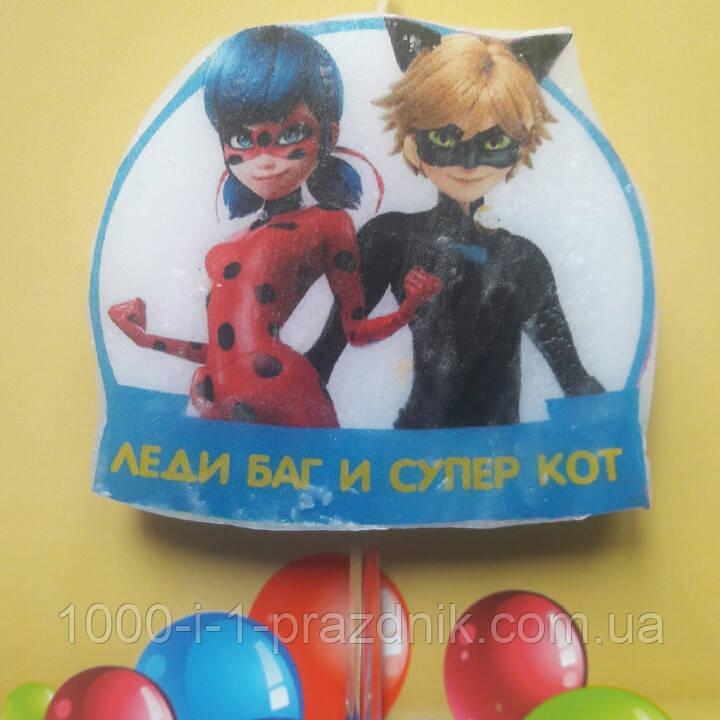 """Свеча """"Леди Баг и Супер Кот"""" большая"""