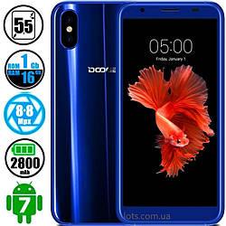 Смартфон Doogee X55 1/16Gb Blue (Двойная камера) Бампер в подарок
