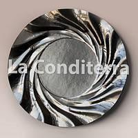 Тарелки черные, металлизированные Salaet ACURIO (d=35 см)