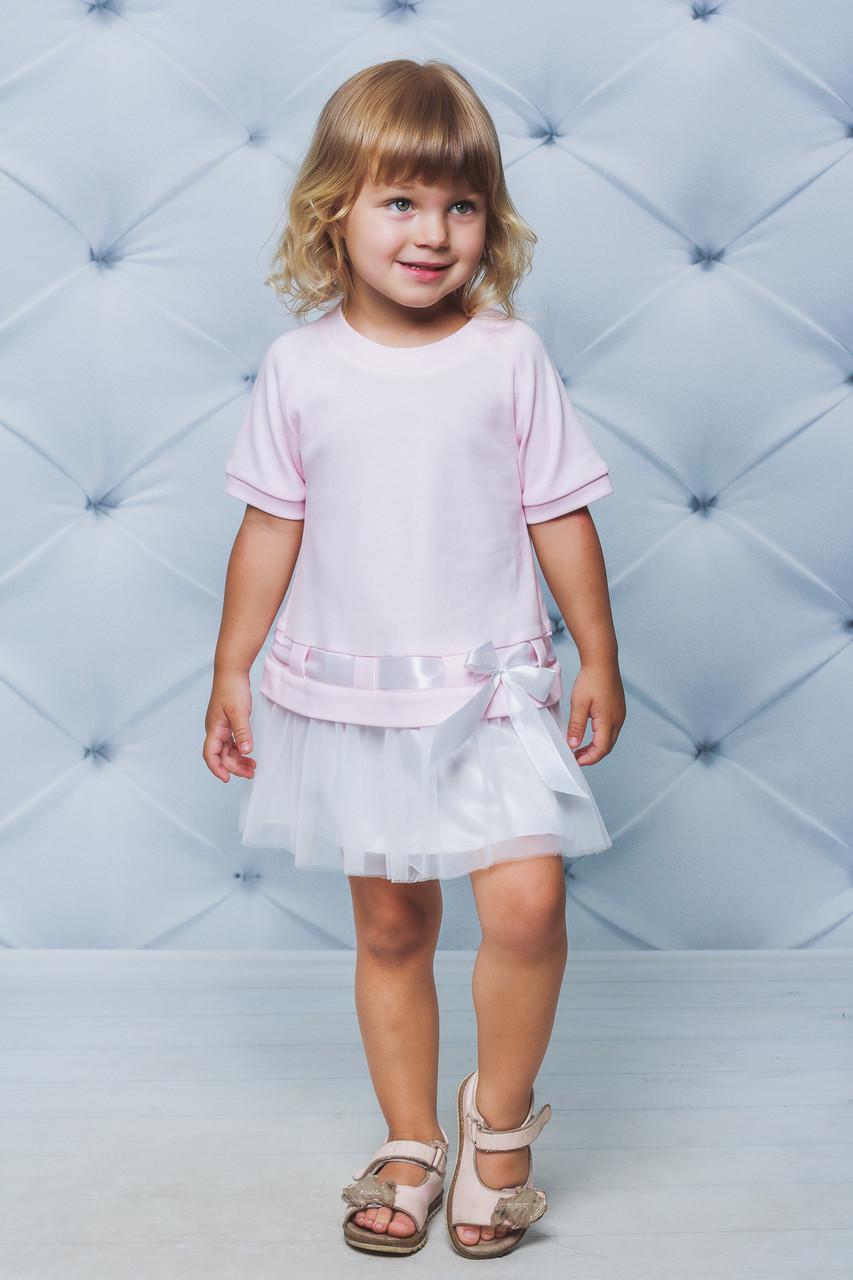 Платье детское  с фатиновой юбкой Розовая