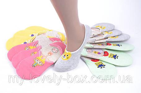 ОПТОМ.Женские носки-следки ХЛОПОК с узором (SL801/12)   12 пар, фото 2