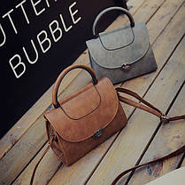 Модная сумка сундук с круглой ручкой, фото 3
