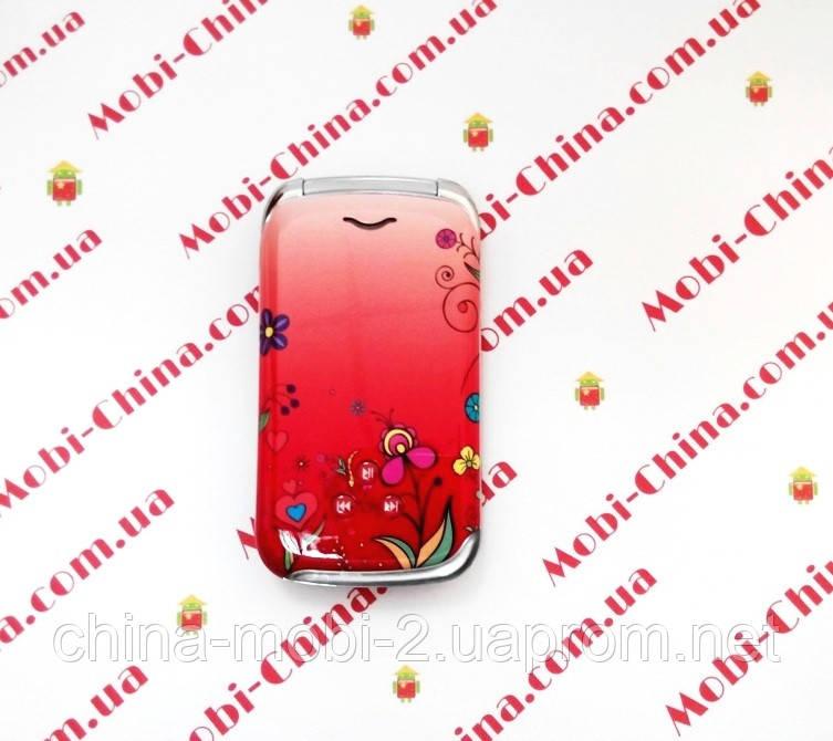 Копия  Nokia W888 dual телефон раскладушка