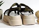 0318 Женские босоножки Raffelli на плотной подошве. Цвет хаки , фото 6